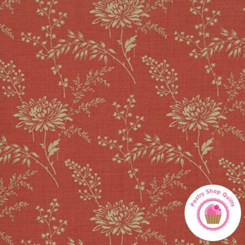 Moda FRENCH GENERAL FAVORITES 13527 32 Red Ivory Floral Quilt Fabric