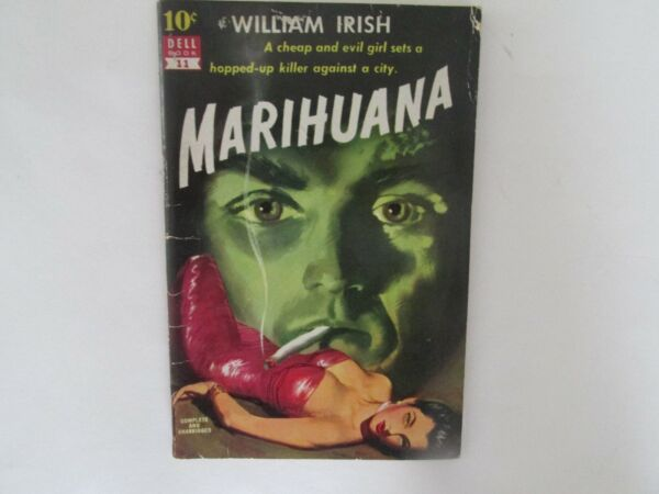 Marihuana Signed William Irish Cornell Woolrich Marijuana Pot Drugs Rare