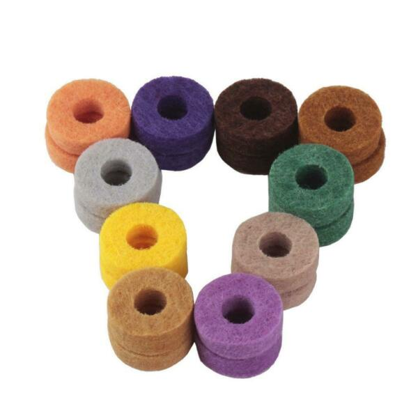 20pcs Colorful Cymbal Felts Hi Hat Washers Instrument Kit Protector Supplies