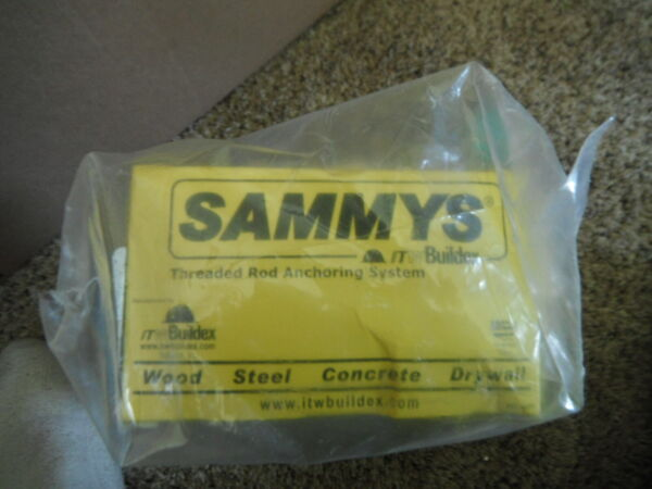 Sammys Horizontal Threaded Rod Anchors 38 8050957 SWD 10 For Steel Box of 25