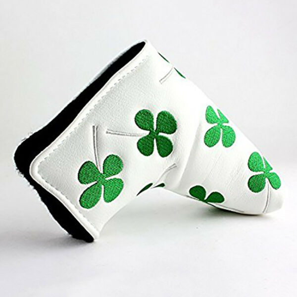 Leather Putter Head Cover PU Golf Protection Blade Headcover Closure US Stock