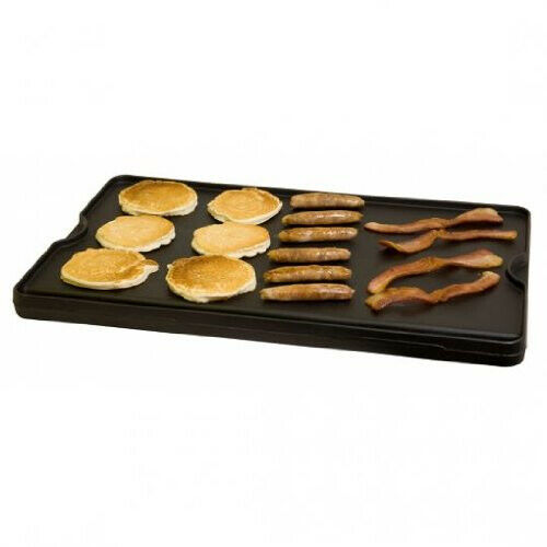 Cast Iron Flat Griddle Grill Camp Pancake Griddles Preseasoned Reversible Large