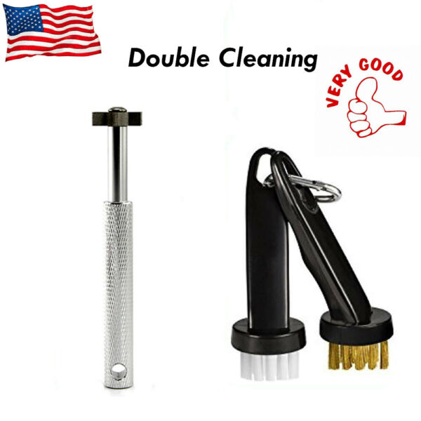 Golf Brush And Club Groove Cleaner Double Cleaning Easily Attaches To Golf Bag