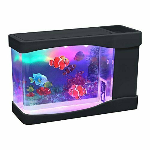 Artificial Mini Aquarium Fish Tank with 3 Fake Fish by Playlearn $29.99