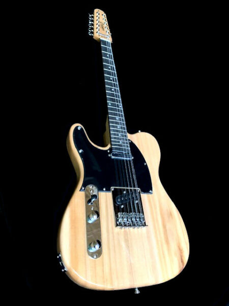 NEW LIGHTWEIGHT 12 STRING TELE STYLE NATURAL ELECTRIC GUITAR STUNNING GRAIN $150.00