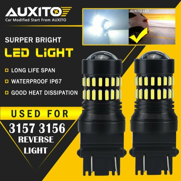 AUXITO 3157 4114 4157 LED DRL Driving Daytime Running Light Bulb kit White 48H A