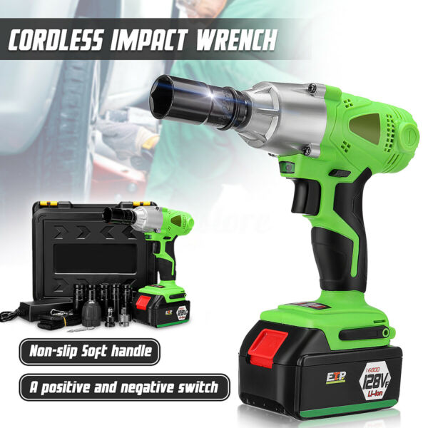 19800mAh 1/2'' Electric Brushless Cordless Impact Wrench Drill High Torque Tool