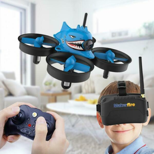 Armor Blue Shark FPV Racing Drone Set Tinywhoop  Ready to Fly