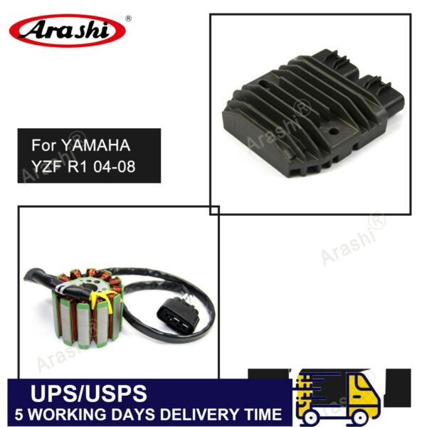 Voltage Regulator + Stator Coil Fit Yamaha YZF R1 1000 2004 2005 2006 2007 2008