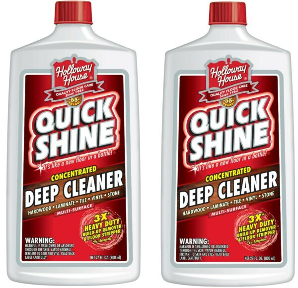 Holloway House Quick Shine Multiple Surface Floor Deep Cleaner 27 oz (2 Bottles)