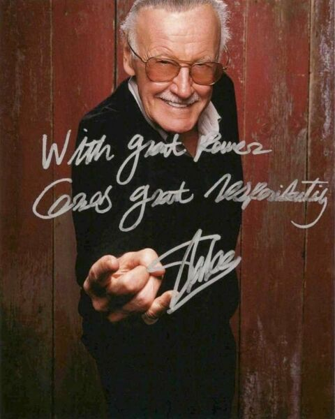 Stan Lee Spider Man Vintage Signed 8x10 Photo Autographed REPRINT