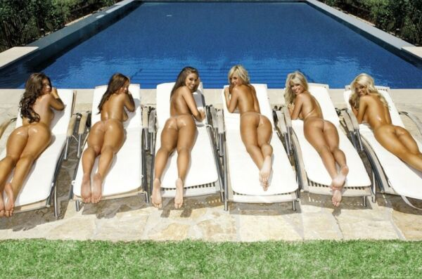 SUNBED GIRLS - SEXY PIN UPS - POSTER 24x36 - HOT MODELS POOL BUTT 50538