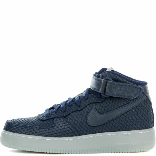 Nike Air Force One 1 Mid 07 AF1 BINARY BLUE ICE SILVER 804609-401 sz 12-13 Men's