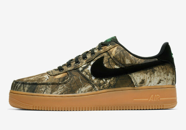 Nike Air Force 1 One AF1 Low REALTREE CAMO GREEN GUM BROWN BLACK AO2441-001