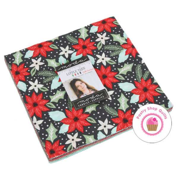 Moda LITTLE TREE Lella Boutique LAYER CAKE 42 10quot; Squares QUILT FABRIC Christmas