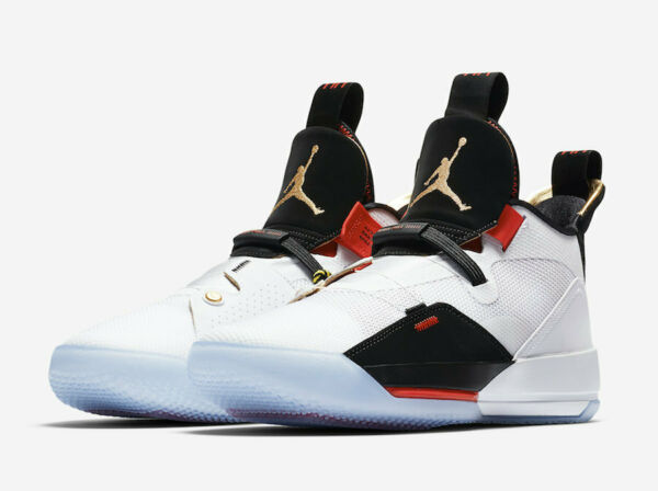 Nike Air Jordan XXXIII 33 FUTURE OF FLIGHT WHITE RED BLACK AQ8830-100 sz 9-11