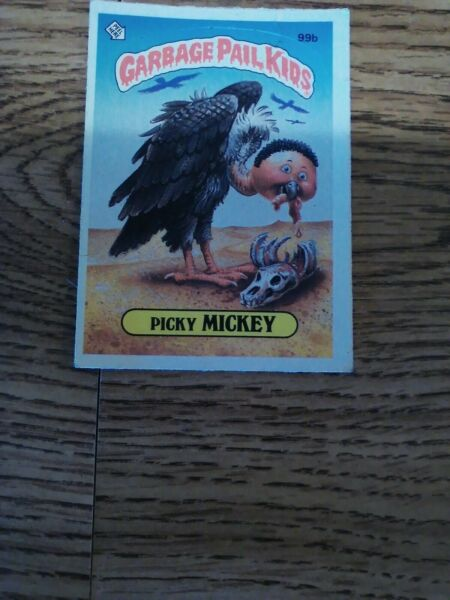 *AUTH * 1986 GARBAGE PAIL KID CARDS #99b PICKY MICKEY. Good COND