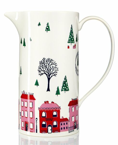 Holiday Serving Pitcher By Kate Spade New York Lenox Arbor Village Pattern