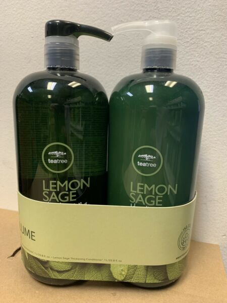 Paul Mitchell Tea Tree Lemon Sage Shampoo and Conditioner 33.8 oz Liter Set