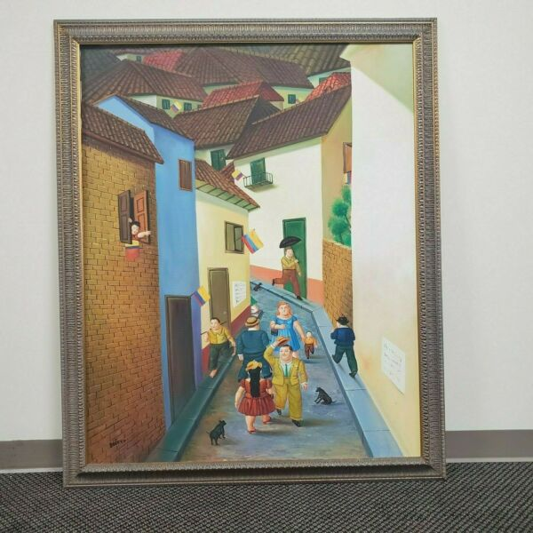 Midtown Cartoon Hand Painted Oil Painting Fernando Botero