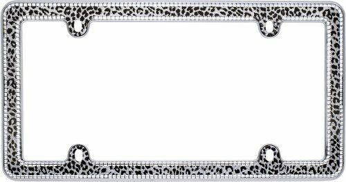 Cruiser Accessories Snow Leopard Bling License Plate Frame Part #18513 NEW