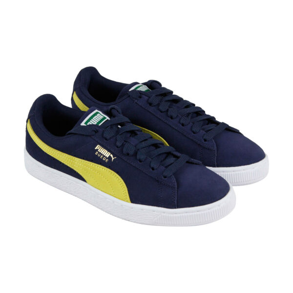 Puma Suede Classic Mens Blue Suede Low Top Lace Up Sneakers Shoes 7