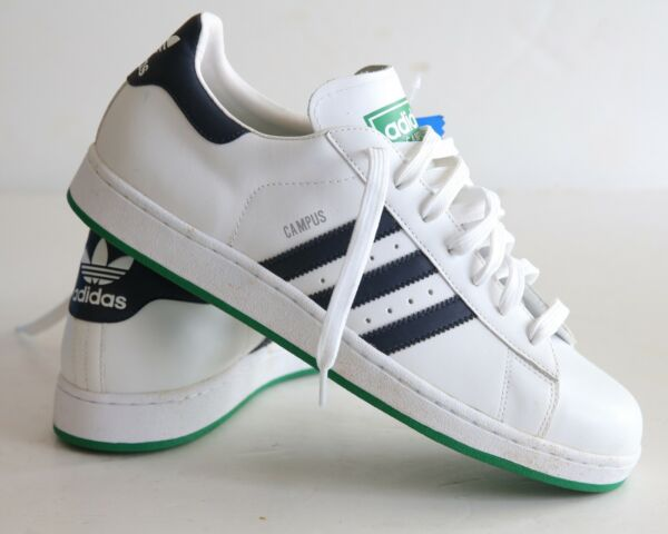 ADIDAS CAMPUS ll White Leather  Men's Size 12 New in Box LIFESTYLE