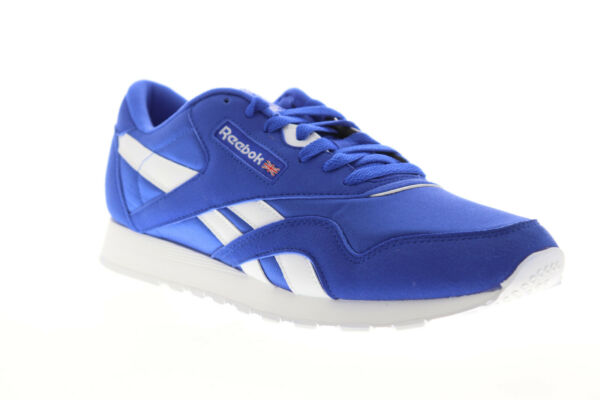 Reebok Classic Nylon CN7447 Mens Blue Casual Lace Up Low Top Sneakers Shoes