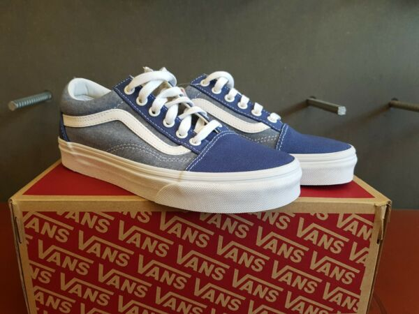 NEW IN THE BOX VANS OLD SKOOL CHAMBRAY CANVAS TRUE NA VN0A38G1VI0 FOR WOMEN