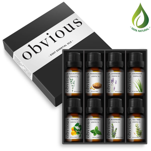 Aromatherapy 8 Essential Oil Set 100% Pure Therapeutic Gift Sampler Kit Oils $12.99