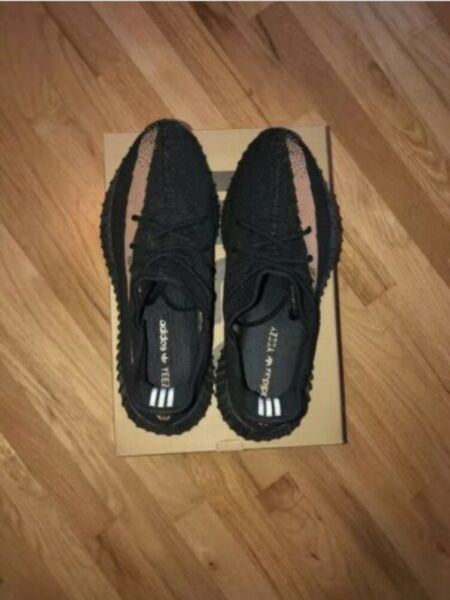 Adidas Yeezy Boost 350 V2 Black Copper Size 10 Brand New Great Condition