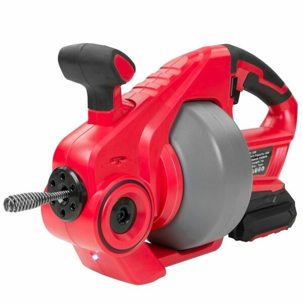 Portable Max 18v Cordless Electric Plumbing Pipe Cleaner drill Drain Snake Auger