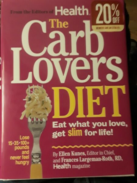 The Carb Lovers Diet by Ellen Kumes amp; Frances Largeman Roth Hardcover 2010 $4.00