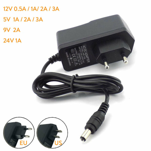 Power Supply Adapter DC5V 12V 9V 24V 1A 2A 3A 0.5A US EU Plug LED Strip light SS