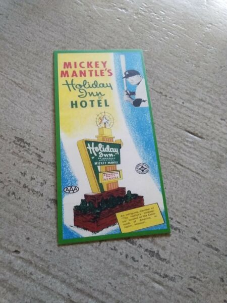 Mickey Mantle 1950's Holiday Inn RP