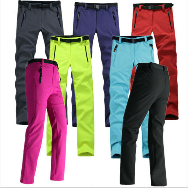 Womens Outdoor Soft shell Camping Tactical Cargo Pants Combat Hiking Trousers