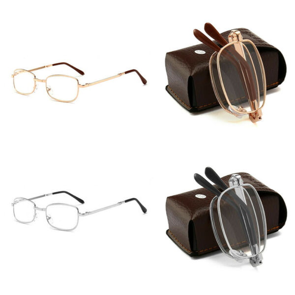 Compact Folding Reading Glasses Readers Travel Slim Design with Case Portable US