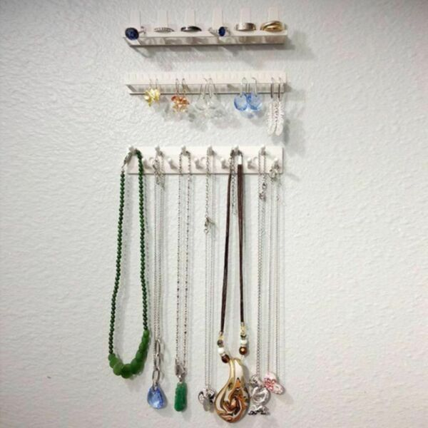 Jewelry Organizer Hanging Holder Display Stand Rack Wall Mount Earring Necklace