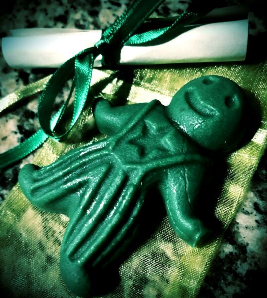 Money Drawing - Wax Spell Poppet - Handmade Witchcraft Hoodoo Wicca Wax Doll