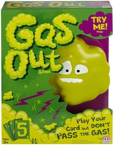 Mattel Games Gas Out New Board Game $20.37