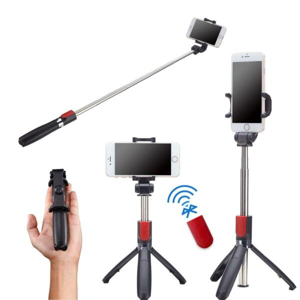 Karamy 2 in 1 Selfie Stick Tripod With Stainless Steel Pole - Four Options