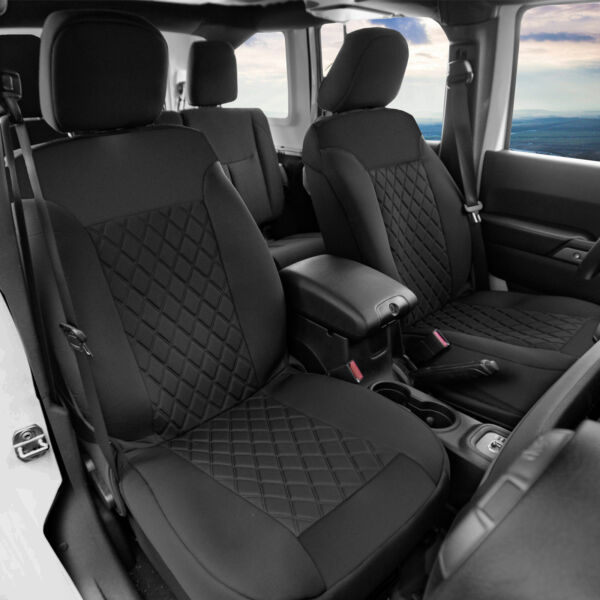 Neosupreme Front Bucket Seat Covers Pair For Auto Car SUV Black $49.99