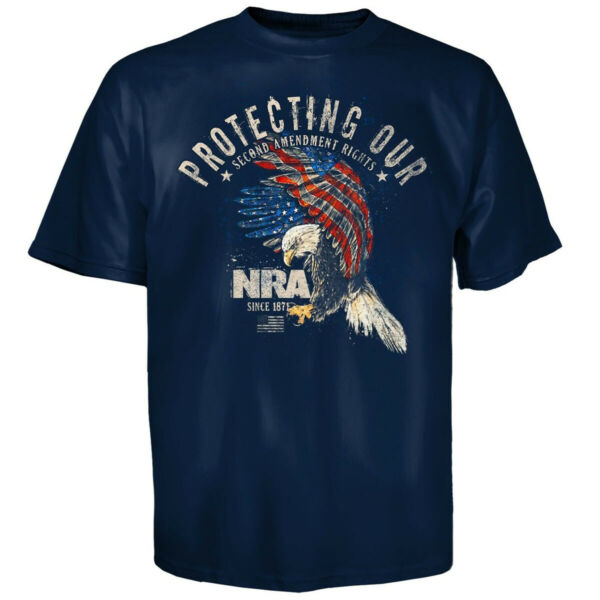 NRA Protecting Eagle T Shirt M Navy $12.99