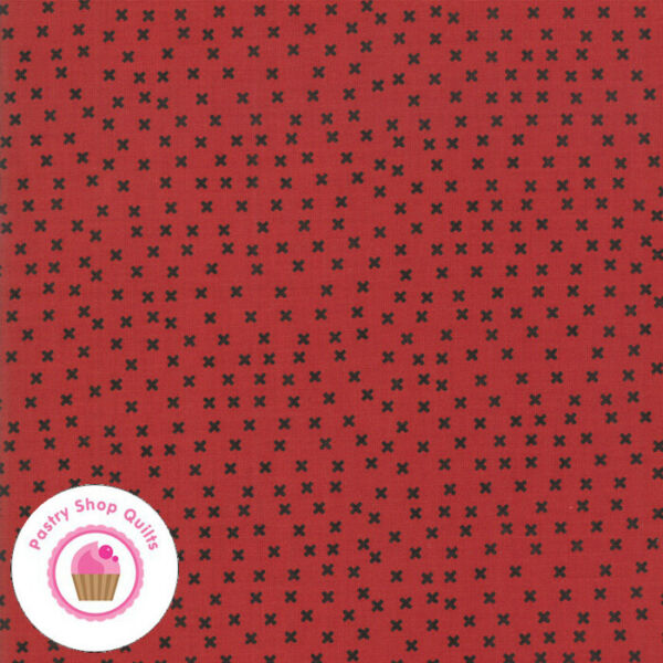 Moda THE PRINT SHOP 5741 31 Red Black Cross Check X SWEETWATER Quilt Fabric