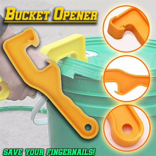 Portable Plastic Bucket Pail Paint Barrel Lid Can Opener Opening Home Hand Tools