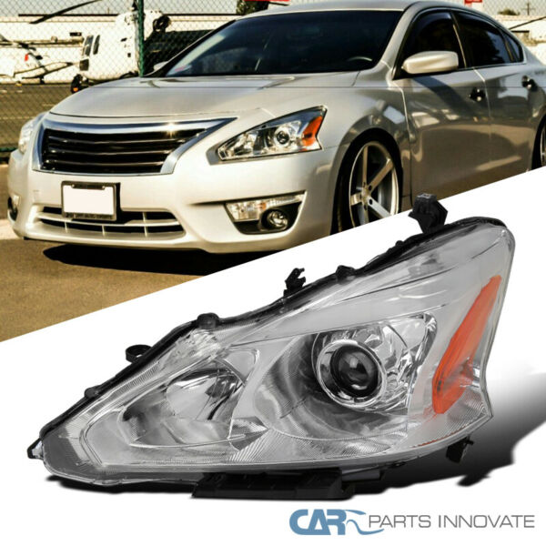 Driver Side Crystal Clear For 13-15 Nissan Altima Sedan Projector Headlight Left
