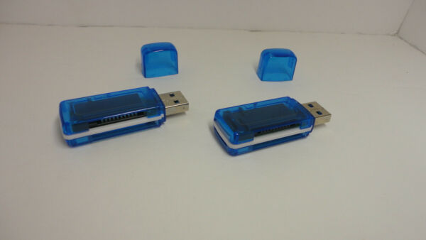 2 Pack Lot x All In One USB Card Reader Writer Standard SD HC Micro SD TF MS M2
