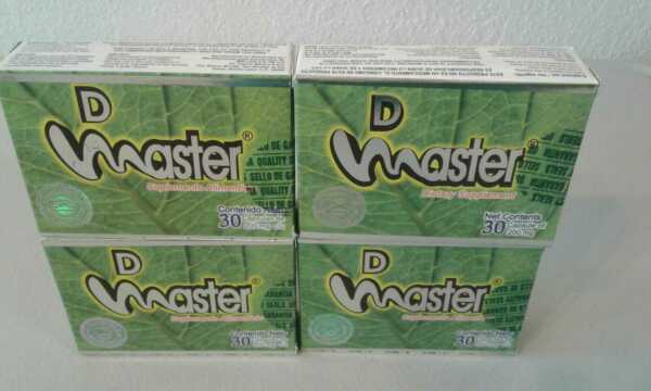4 Pack- D MASTER 120 PILLS SUPPLEMENT- 100% MEXICAN VERSION FREE SHIPPING