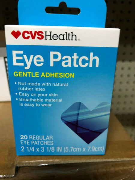 EYE PATCH patches COVER disposable Cheap inexpensive CVS 20ct gentle adhesion $5.69