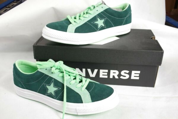 Converse One Star Men's Shoes Green Blue Size 10.5